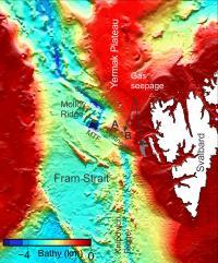 Map of the Fram Strait
