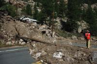 Debris Flow on Highway 34, Colorado Front Range
