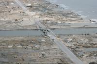 Hurricane Ike -- Damaged Houses and Bridge