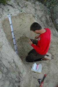 Smithsonian Scientist Ben Turner Excavates Jurien Dunes Soil Profile