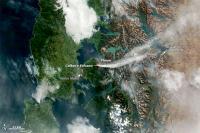 NASA Satellite Captures Eruption of Calbuco Continuing