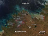 Fires in the Kimberley Region of Western Australia