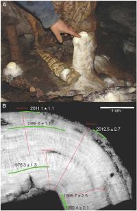 Mawmluh Cave Stalagmite