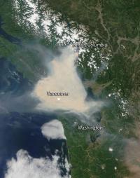 Aqua Image of Smoke Over Vancouver