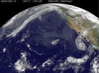 Satellite Movie Shows Hurricane Dolores' Remnants Bring Rains to US Southwest