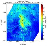 NASA's RapidScat Sees 'Left-handed' Tropical Depression 8E