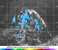 NASA's Earth Satellites See Little Rains in Tropical Depression 8E