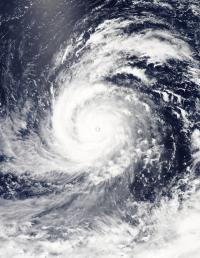 NASA's Aqua Satellite Captured This Visible-Light Image of Super Typhoon Soudelor.