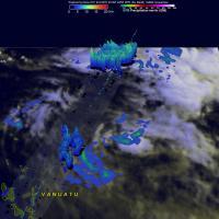 GPM Views Fading Rare Southern Hemisphere Tropical Cyclone