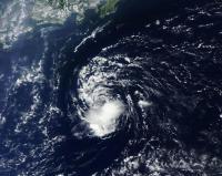 NASA's Terra Satellite Sees the End of Tropical Depression 14W