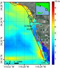 Map of Localized Peak Tsunami Amplitude