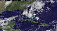 GOES-East Animation of Erika Dissipating Near Cuba