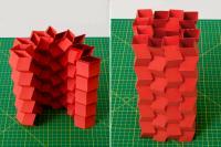 Origami Zipper-Tube Tower