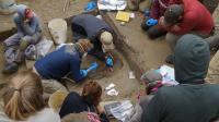 Upward Sun River Excavation