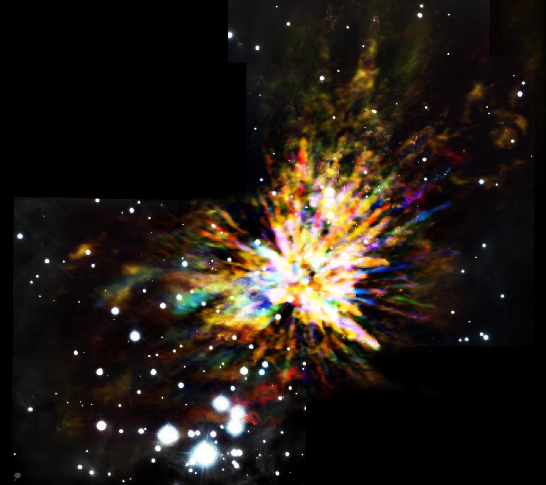 Eksplosiv stjernefødsel fanget af ALMA