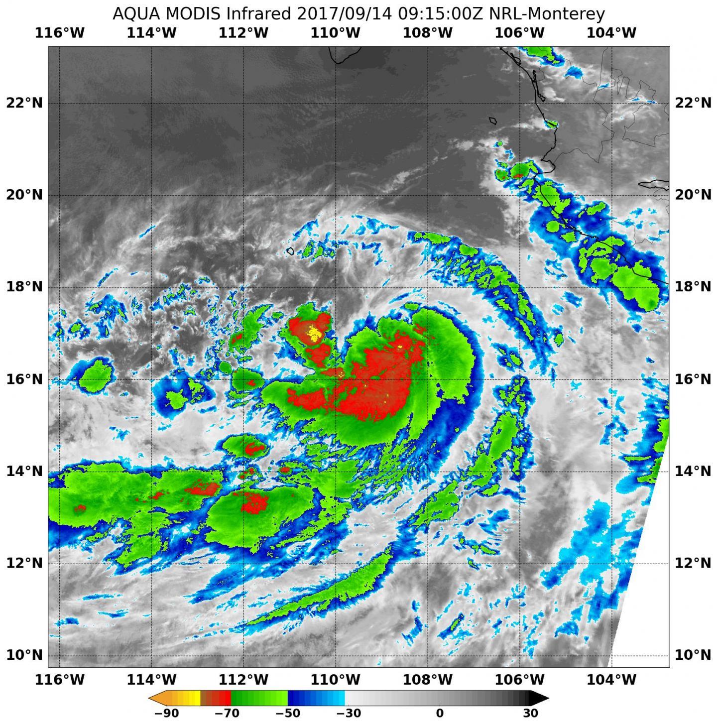 Norma, now a hurricane, to start creeping toward Baja California today