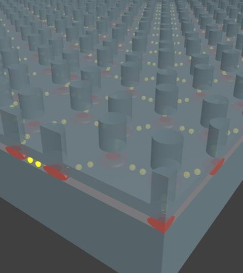 Columbia engineers create artificial graphene in a nanofabricated