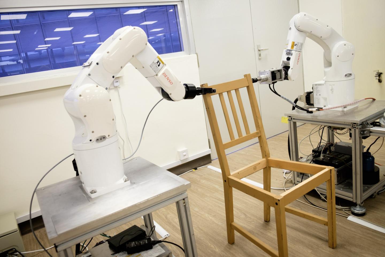 A robot by NTU Singapore autonomously assembles an IKEA