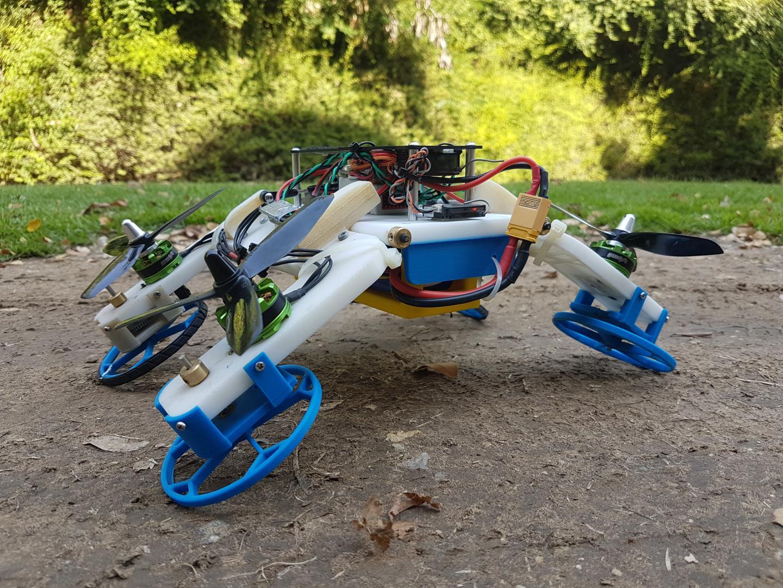 BGU Drohne kann laufen und fliegen. Quelle: eurekalert.org