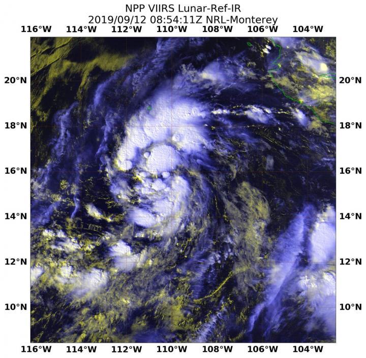 NASA-NOAA satellite's night-time look at Tropical Storm Kiko | EurekAlert! Science News