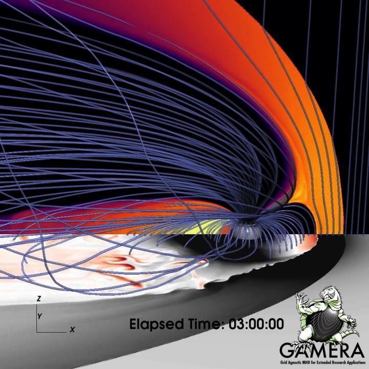 Nightside Barrier Gently Brakes 'Bursty' Plasma Bubbles