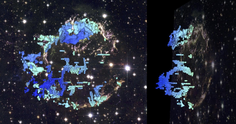 О «пенистой» структуре остатков сверхновой рассказала «томограмма»